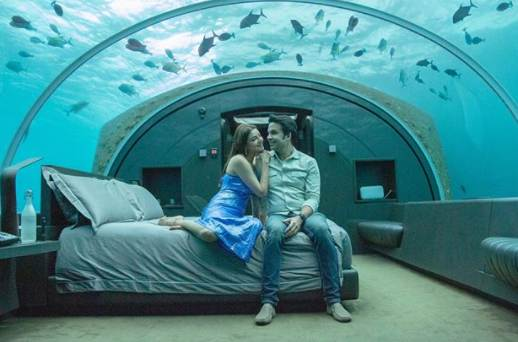 Kajal Aggarwal and Gautam Kitchlu are within the lap of luxury, share pics of their underwater room from Maldives honeymoon