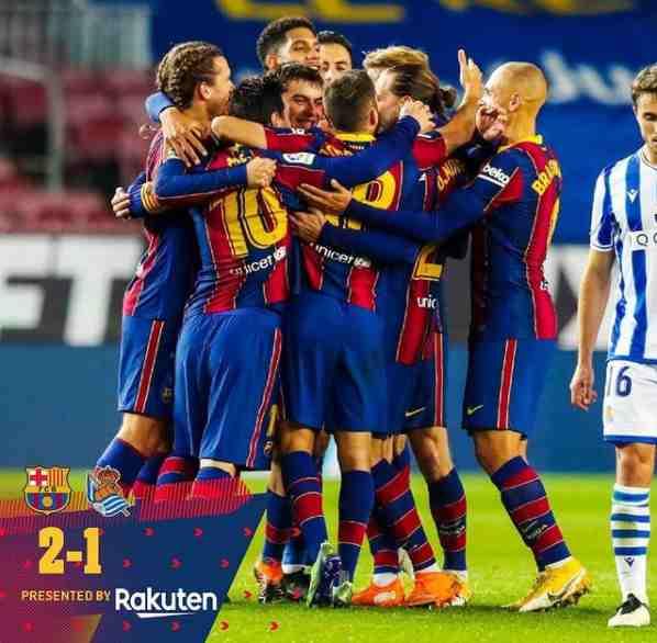 Barcelona vs. Real Sociedad score: Jordi Alba and Frenkie de Jong goals lead to comeback La Liga win