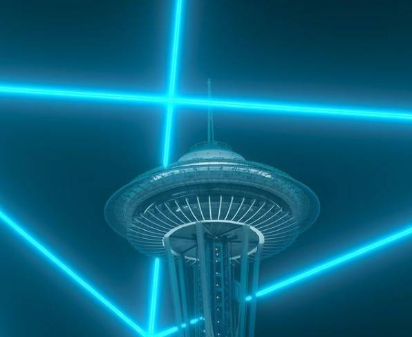 Seattle welcomes 2021 with the stunning virtual show at the Space Needle