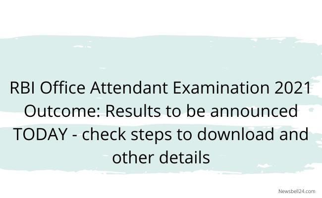 RBI Office Attendant Exam
