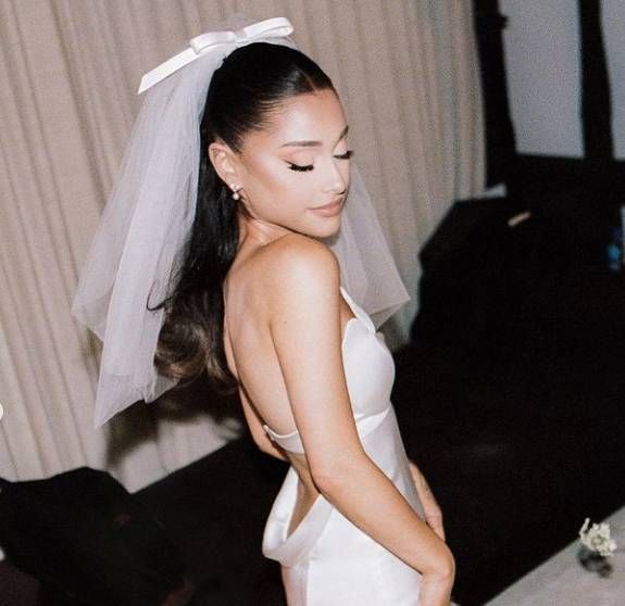 Ariana Grande shares first pictures from wedding ceremony to Dalton Gomez