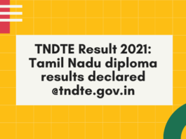TNDTE Result 2021: Tamil Nadu diploma results declared @tndte.gov.in; here is the direct link