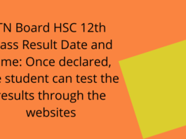 TN Board HSC 12th Class Result Date and Time: Once declared,the student can test the results through the websites