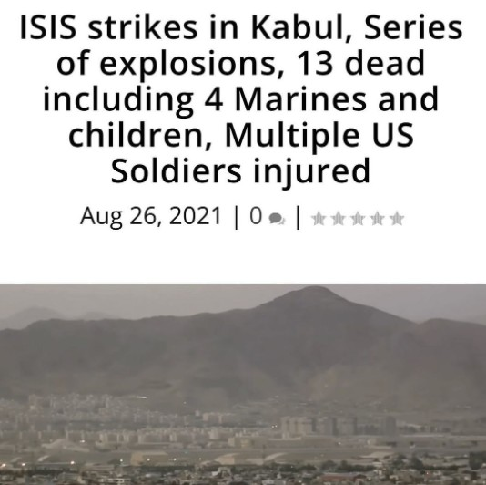 At least 4 U.S. troops were killed in ISIS attacks on Kabul airport